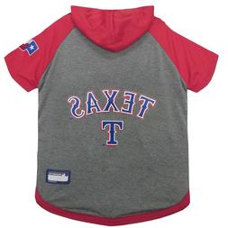 NFL Texas Rangers LG & M Pet Hoodie T Shirt Sewn On Jock Tag