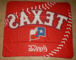 NIP Texas Rangers MLB Baseball Coca-Cola Coke Logo Throw Pic