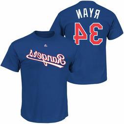 Nolan Ryan #34 Texas Rangers Majestic Men's Royal Name & Num