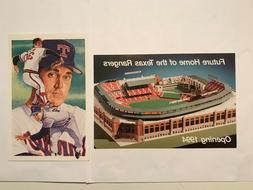 Nolan Ryan & Texas Rangers park at Arlington Souvenir Post c