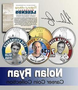 NOLAN RYAN Career HOF Statehood Quarter 3-Coin Set