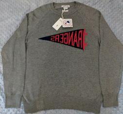 NWT Hillflint Men Texas Rangers Pennant Crew Neck Sweater Re