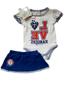 *NWT - MLB - BABY GIRL'S TEXAS RANGERS 2-PC SKIRT OUTFIT SET