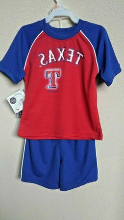 *NWT- MLB -TODDLER BOY'S 2-PC TEXAS RANGER JERSEY SHORT SET-