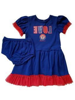 *NWT- MLB -TODDLER GIRL'S TEXAS RANGERS 2-PC DRESS SET- OFFI