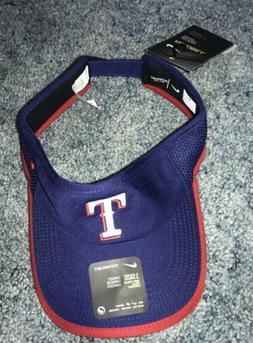NWT Texas Rangers Nike MLB Aerobill Adjustable Visor Hat.