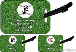 PERSONALISED LUGGAGE TAG WITH STRAP - AMERICAN BASEBALL TEAM