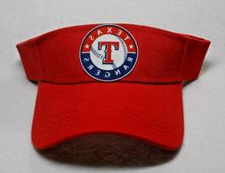 Read Listing! Texas Rangers Heat applied FLAT LOGO on RED vi