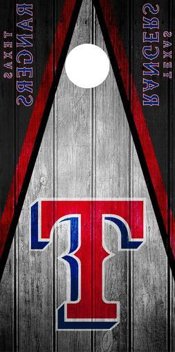 SINGLE Texas Rangers Cornhole Wrap Skin Decal MLB Game Vinta