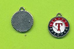 Stylish Texas Rangers Circular Dangle Charm  For Bracelet Ne