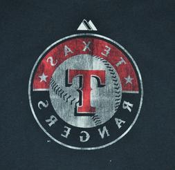 t-shirt medium texas rangers mlb baseball 19 inches pit to p