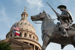 Terrys Texas Rangers Monument State Capitol Dome Photo Art P