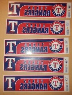 """Texas Rangers 11"""" BY 3 """" NHL BUMPER STICKERS"""