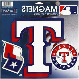 "WinCraft Texas Rangers 11"" X 11"" 3pk Car Magnets"