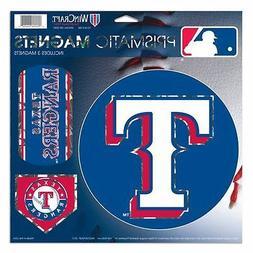 "Texas Rangers 11""x11"" Prismatic Magnet Sheet  3 Magnets MLB"
