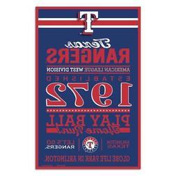 "Texas Rangers 11""x17"" Wood Sign Established Design  MLB Bann"