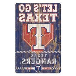 "Texas Rangers 11""x17"" Wood Sign Slogan Design  MLB Wall Bann"