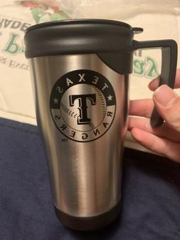 TEXAS RANGERS 16 OZ STAINLESS STEEL COFFEE TRAVEL MUG MLB Br