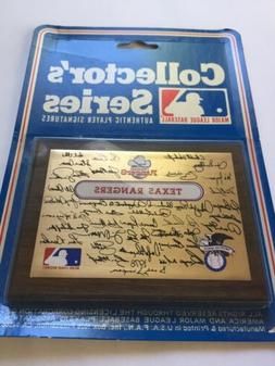 Texas Rangers 1978 Collectors Plaque Factory Sealed New Old