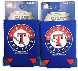 Texas Rangers 2-Pack CAN Beverage Insulator Neoprene Holder