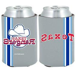 Texas Rangers 2-PACK CAN Retro THROWBACK Koozie Neoprene Hol