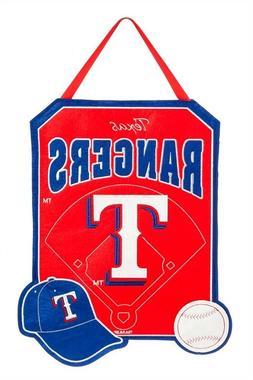 "Texas Rangers 20.5"" x 16.5"" Felt Door Decor Wall Banner"