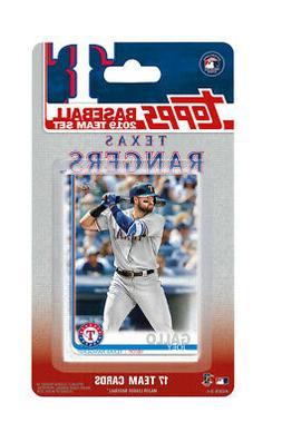 Texas Rangers 2019 Topps Baseball Factory Sealed Team Set El