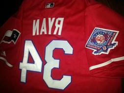 Texas Rangers #34 Nolan Ryan Throwback Jersey RED New Tag du