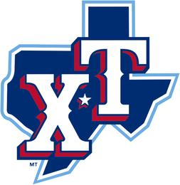Texas Rangers 4 Inch MLB Color Die-Cut Decal / Sticker *Free