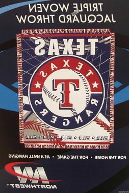 "TEXAS RANGERS 48"" X 60"" WOVEN JACQUARD AFGHAN THROW BLANKET"