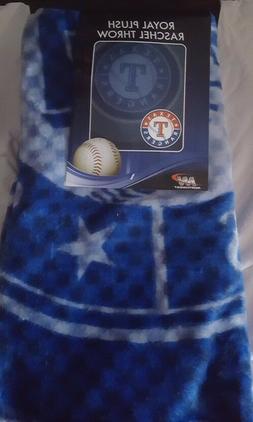 "Texas Rangers 50"" by 60"" Raschel Throw Blanket - MLB Retro d"