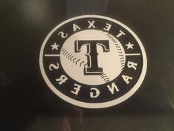 texas rangers 5x5 white car decal sticker