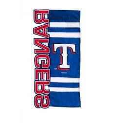 """Texas Rangers 9.5"""" x 18"""" Applique, Embroidered and Sculpted"""