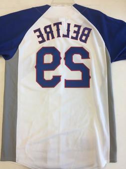 Texas Rangers Adrian Beltre Majestic white/royal fashion jer