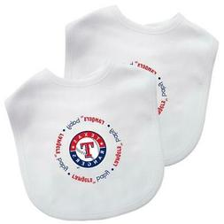 Texas Rangers Baby Bib 2 Pack  MLB Infant Cotton Toddler Fan