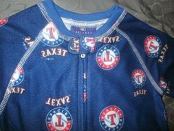Texas Rangers BABY SLEEPER FOOTED Infant PAJAMAS JAMMIES 3/6