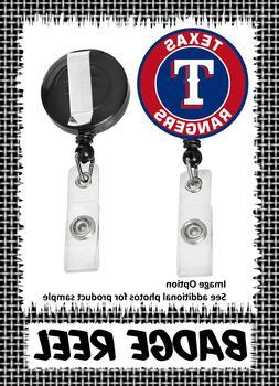 Texas Rangers - Badge Reel - Choose From 12 Designs