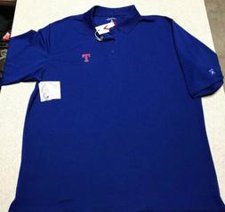 Antigua Texas Rangers Baseball Blue Polo Shirt Men's Size