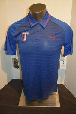 Texas Rangers Baseball Blue Stripe Nike Polo Shirt Men's S