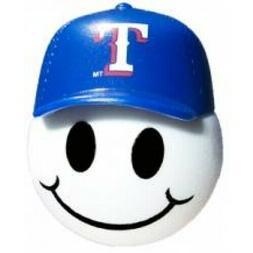Texas Rangers Baseball Cap Head Car Antenna Ball / Desktop B