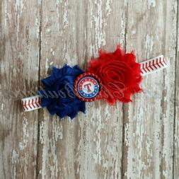 Texas Rangers baseball elastic infant, toddler, or adult siz
