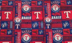 "Texas Rangers Baseball - MLB -  100% Cotton Fabric - 18"" x 2"