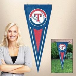 Texas Rangers Baseball MLB Emroidered Yard Pennant Indoor/Ou