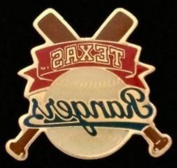 Texas Rangers Baseball Pin Badge ~ MLB ~ Cross Bats