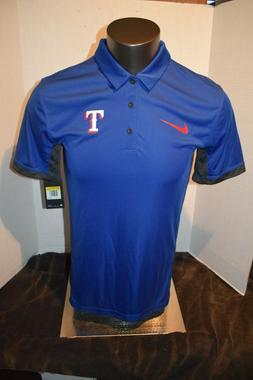 Texas Rangers Baseball Royal Blue Nike Polo Shirt Men's Si