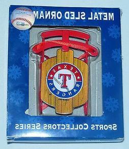 Texas Rangers Baseball Sports Collectors Series Metal Sled T