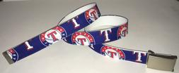 Texas Rangers BELT & Buckle Baseball Team MLB Fan Game Gear