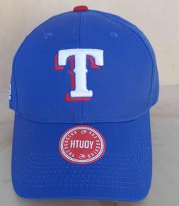 TEXAS RANGERS BLUE ADJUSTABLE BALL CAP YOUTH - MLB