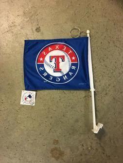 Texas Rangers Blue Logo Car Window Flag NEW MLB BASEBALL DAR