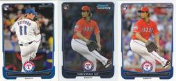 texas rangers bowman prospect and rookie card